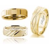Argolla Matrimonio Compromiso Oro 18k C/u Económica Garantia