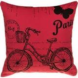 Almohadón + Relleno Estampado Bicicleta Vintage Roja Paris