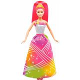 Barbie Fantasia Princesa Luzes Arco-íris