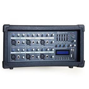Consola Mezclador Amplificado Soundbarrier Sb8406 Mp3