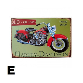 5 Placas Antigas Vintage Retrô Harley Davidson Promoção 50%