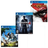 Tri Pack Ps4 Horizon Zero Dawn + Uncharted 4 + God Of War 3