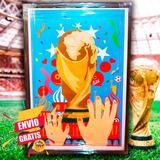 Cuadro Con Ilustración Copa Del Mundo Rusia 2018