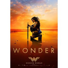 Poster Mulher Maravilha Wonder Woman Gal Gadot 42x29cm Hd