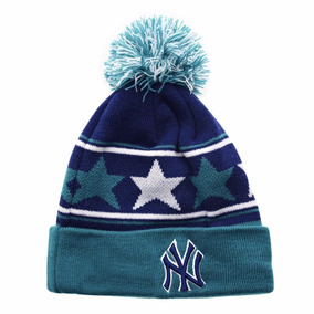 New York Yankees New Era Pommy Star Beanie Gorro Lana Mlb