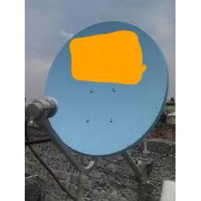 Antena Azul Banda Ku Con + Lnb Sencillo. Gratis Envii¡o