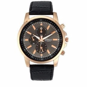 Hermoso Reloj Casual Unisex Marca Geneva Correa En Piel P.u