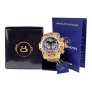 Relógio Masculino Spaceman Analógico + Caixa Premium Ros61