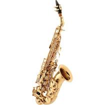 Saxofone Soprano Curvo Com Case Sp508 L Eagle Laqueado
