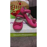 Zapatos Fiesta Vestir Rosados Hush Puppie Cuero Rosado Niña