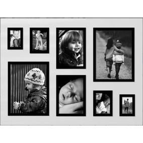 Kit 8 Molduras Quadros Fotos 2 10x15 2 13x18 2 21x30 2 30x42