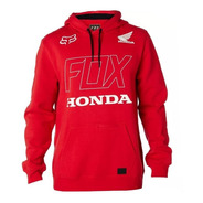 Buzo Fox Honda Fleece Rojo Con Capucha 100% Algodon Yuhmak
