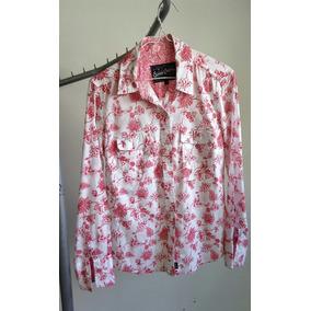 Camisa Kevingston Mujer Con Mangas Largas Estampado Talle 2
