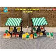 Nico Set De Venta De Verduras Art.5061 M. World H0 (mntw 91)