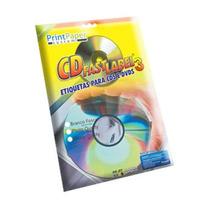 100 Etiquetas Adesivas Para Personalização De Cd / Dvd
