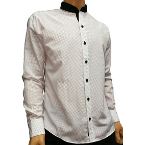 Camisas Cuello Mao Slim Fit Entallada Calce Perfecto Combin