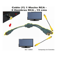 Zcdr01 Splitter De Video Rca 1 Macho - 2 Hembras Computoys
