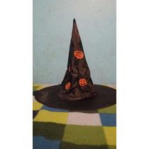Gorro O Sombrero De Bruja Para Disfraz De Hallloween Terror