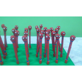 10 Lapiceras Del Hombre Araña En Porcelana Fria !!