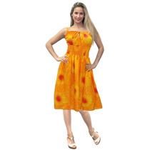 La Leela Orange Gotitas De La Lluvia Diseñador Vestido Tubo