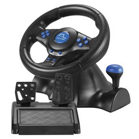 Volante E Pedais Racer - Com Fio - Ps3/ps2/pc - Multilaser