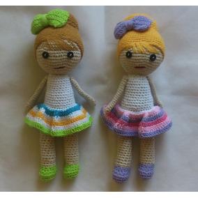 Muñecas Tejidas! 30cm! Niñas! Moda!