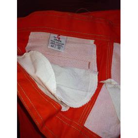 Pantalón De Trabajo Grafa, Color Naranja,(sobrante De Obra)