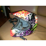 Casco Motocross Enduro, Dual Sport Como Nuevo