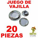 Juego De Vajilla - Vajilla De Porcelana 20 Piezas Oferton
