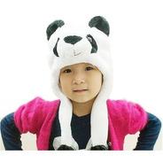 Touca Infantil Urso Panda Crianças Até 8 Ou 9 Anos Fantasia
