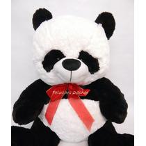 Oso Panda Peluche Grande 70cm Extrasuave Importado + Corazon