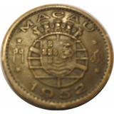Macau - Colonia Portuguesa - Moneda De 10 Avos - Año: 1952