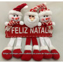 Guirlanda De Natal Vermelha Papai Noel E Bonecos De Neve