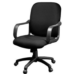 Sillón Oficina Semi Ejecutivo Comfort Tapizado Negro