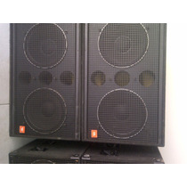 Sub Bajos 18 Dobles Sr Jbl ( 4 Gabinetes) + 02 Power Crown