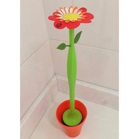 Escova Sanitária Para Banheiro Forma Planta Com Vaso Luxo