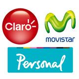 Chip A Tarjeta Sim Card Movistar Personal Claro Prepago !!!