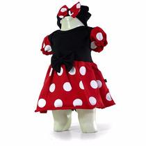 Roupas Bebê Body Bebê Minnie Mouse Fantasia Super Oferta
