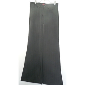 Pantalón De Tela Negro Marca Cacao Talla 14
