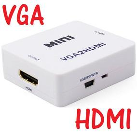 Convertidor Vga A Hdmi Con Audio Pc Laptop Tv Beam 1080p