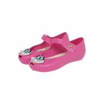 Sapatilha Pink Coruja World Colors Peep Toe