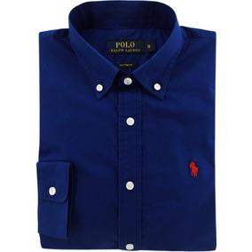Camisa Social Polo Ralph Lauren Masculina Azul Pronta Entrga