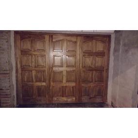 Portón Corredizo De Cedro Macizo