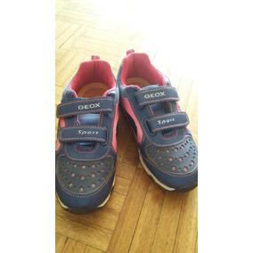 Geox Zapatillas Niña Con Luces Hermosas. Importadas