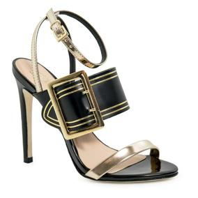 Sandália Conceito Fashion Feminina Luxo Salto Fino Verniz