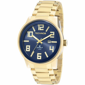 Relógio Technos Dourado Masculino 2115kqu/4a Original C/nf