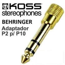Plug Adaptador P2 P/ P10 Pioneer Senheiser Akg Sony Koss