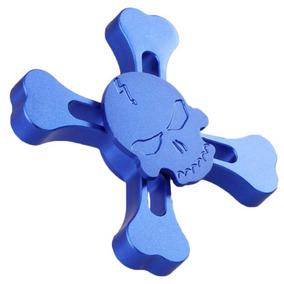 Hand Spinner Fidget Anti Stress Rolamento Caveira Pirata