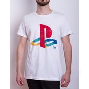 Remera Original Licenciada Logo Playstation Retro