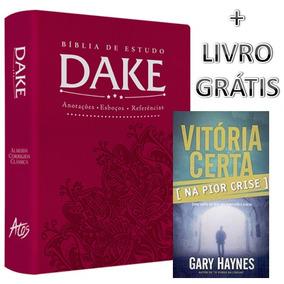 Bíblia De Estudo Dake Feminina + Livro Grátis